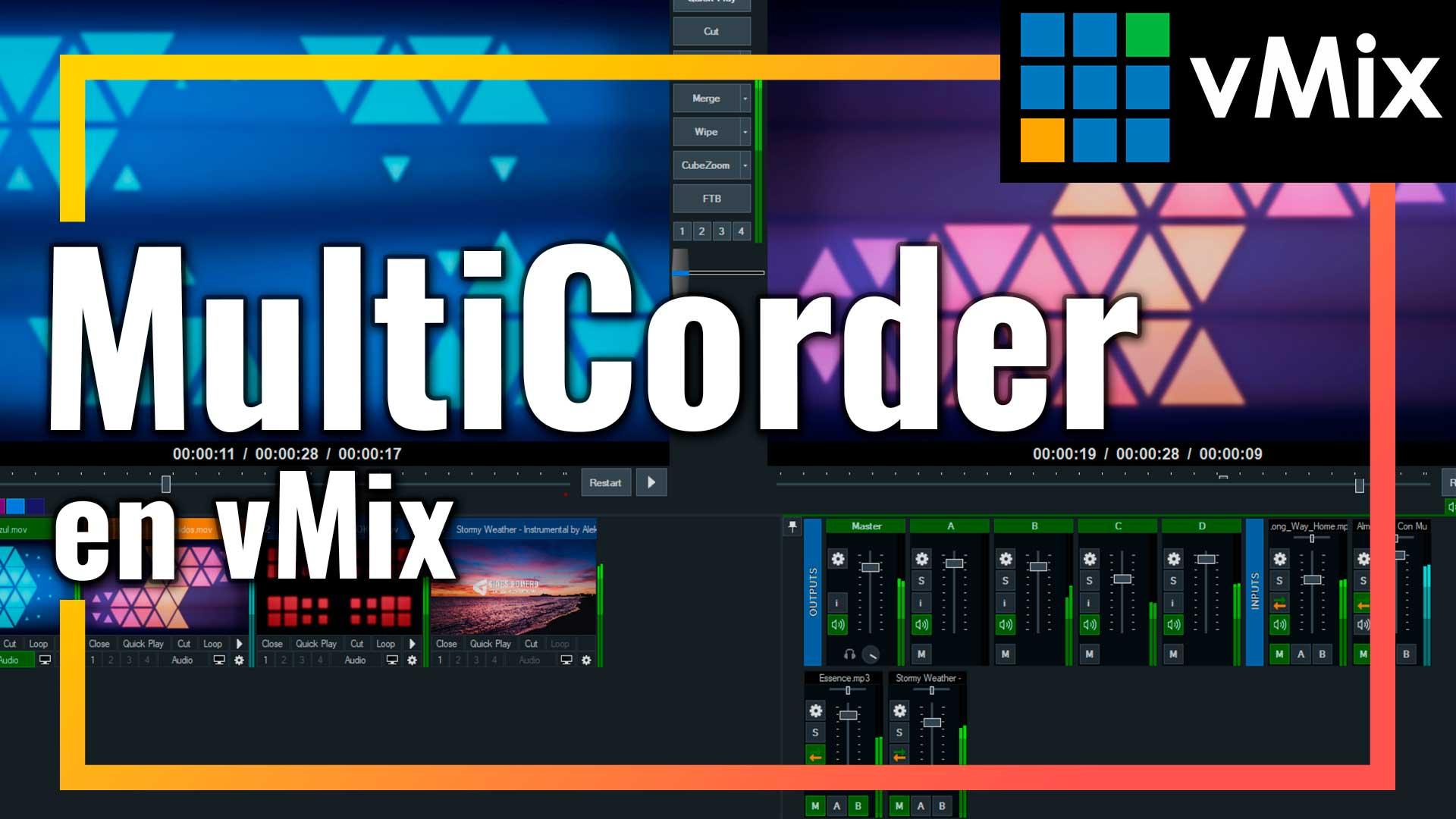 Multicorder en vMix: Si necesitas grabar la señales de entrada independientemente para realizar una posterior edición. Esta el función que necesitas.