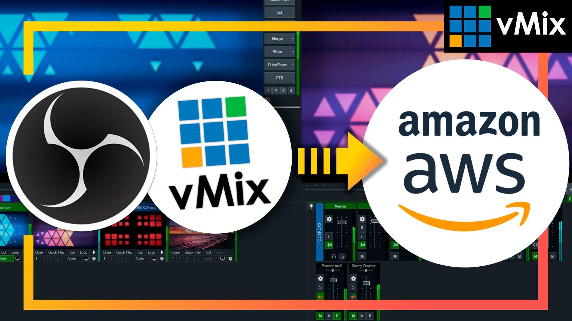 CÓMO hacer LIVE Streaming OBS & VMIX en AWS IVS + EMBED html ▶ Capa gratuita de Amazon IVS Interactive Video Service [Tutorial Español vMix]