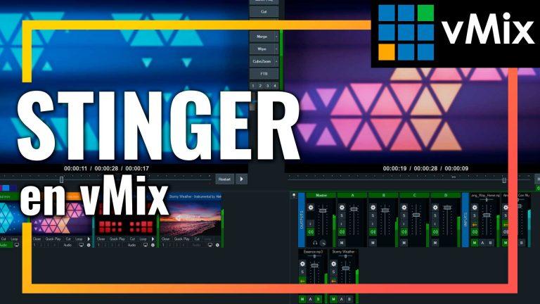Aprenderás como crear Stinger para vMix y descubrirás la herramienta GT title y sus Stinger predefinidos.